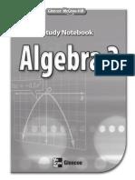 Algebra 2 - Study Notebook