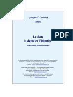 Godbout - Don, Dette Et Identite