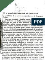 Martinet. Elementos da Linguística Geral