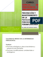 Expo Prevencion y Mantenimiento en La Patologia Periodontal y Preimplantaria