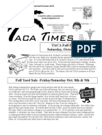 TACA Times Sept/Oct 2010