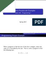 Pseudocode Example Slides