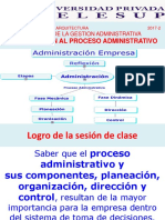 Clase 1 Intr Al Proceso Administrativo Adm II Telesup 2017-2