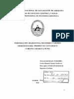 PERFORACIÓN DIAMANTINA, MUESTREO Y MAPEO GEOLOGICO DEL PROSPECTO TANTAMACO CORANI CARABAYA PUNO.pdf