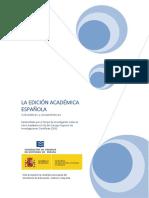 La Edición Académica Española V1