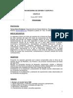 Grupo b. Programa Historia Moderna de España y Europa II. Curso 2017-18