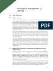 Pharmacological Management of Osteoarthritis