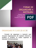 Forme de Organizare a Instruirii