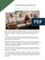 05/Enero/2018 Aspirantes independientes quieren pedir firmas con huellas
