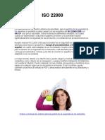 Manual Del Sistema Iso 22000 Para La Gestión de La Seguridad de Los Alimentos