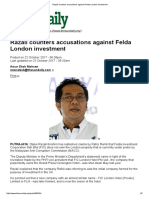 Felda_Razali Counters Accusations Against Felda London Investment