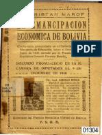 TRISTAN MAROF LA EMANCIPACIÓN ECONÓMIA DE BOLIVIA.pdf