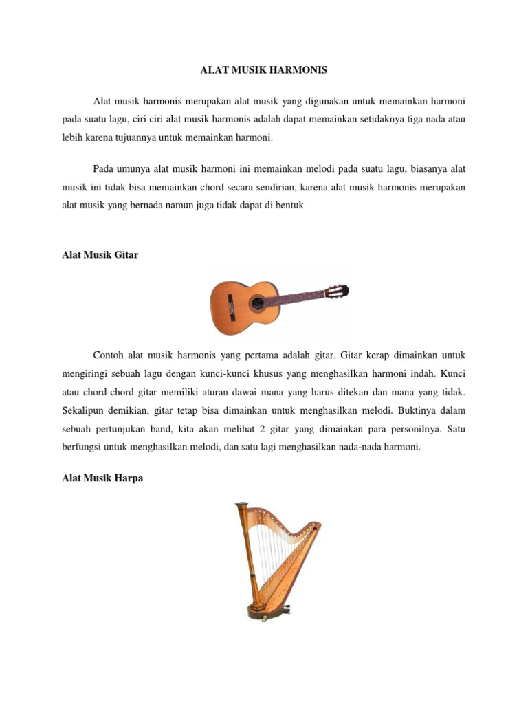 10 Alat Musik Harmonis