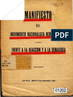 Manifiesto Del MNR 1946