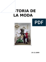 HISTORIA DE LA MODA diferentes modas etc. taller monográfico