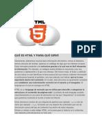 Qué Es HTML y Para Qué Sirve