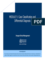 Who Dengue Classification and Differentials Module