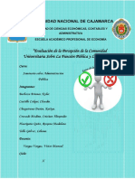 Tópico 5 Evaluación Sobre La Percepción Universitaria Sobre La Función Pública y Corrupción