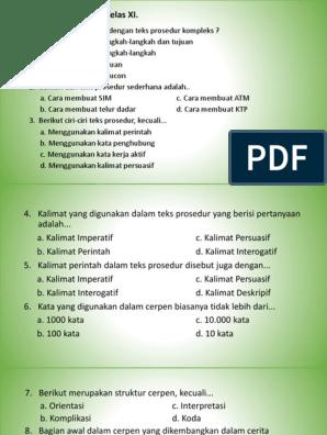 Sebutkan Struktur Teks Prosedur Kompleks - Berbagi Struktur