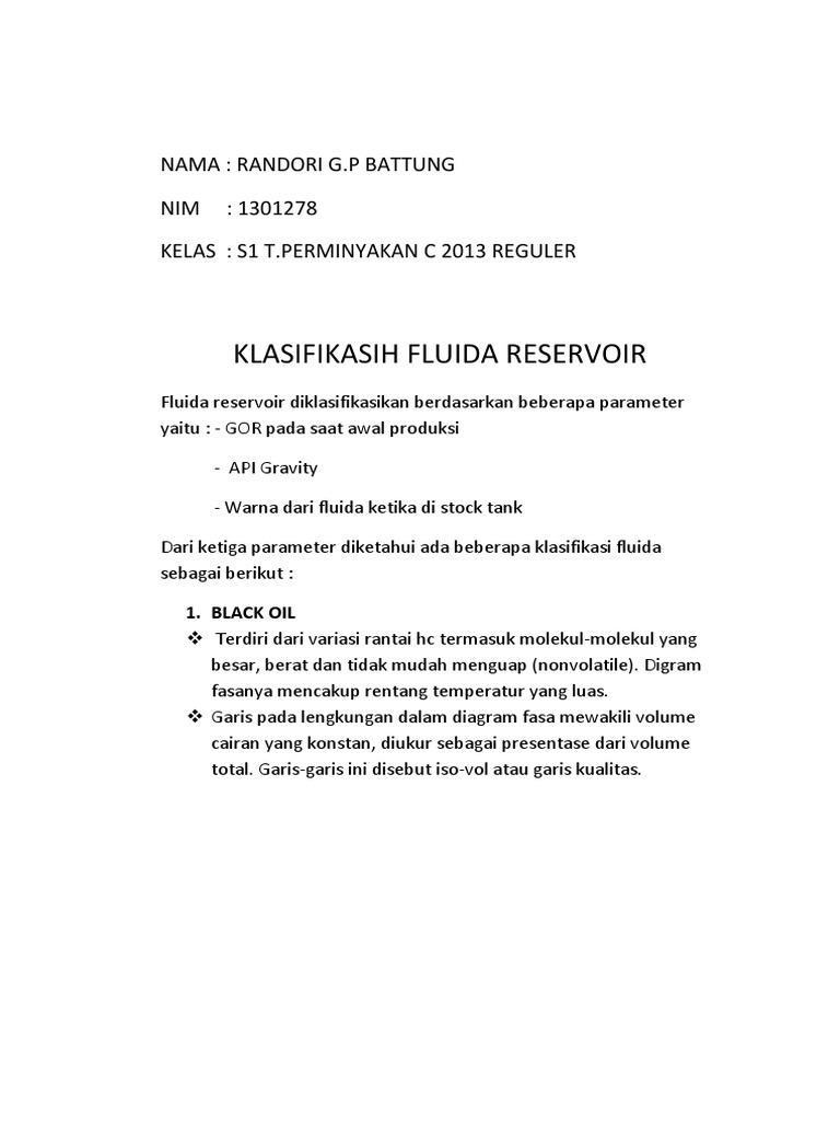Klasifikasih fluida reservoircx ccuart Image collections
