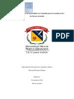 Algunas Consecuencias Del Posconflicto en Colombia Para La Sociedad Civil y Las Fuerzas Armadas