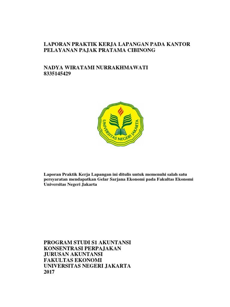 Laporan Pkl Kpp Pratama Cibinong