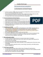 Economic Development and Social Progress
