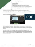 Osciloscópio Digital Usando Arduíno