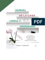 Tabero Pepa - Manual De La Casa Limpia Y Ordenada.doc