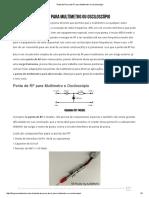 Ponta de Prova de RF Para Multímetro Ou Osciloscópio