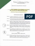 Reglamento General Del Regimen Electoral Del COP