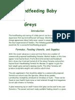 Handfeeding Baby Greys