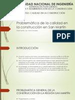 Problemática de la construcción en San Martín