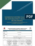Programa Xxxiii Encuentro Nacional Conefi