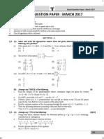 Hsc Science 2017 March Maths