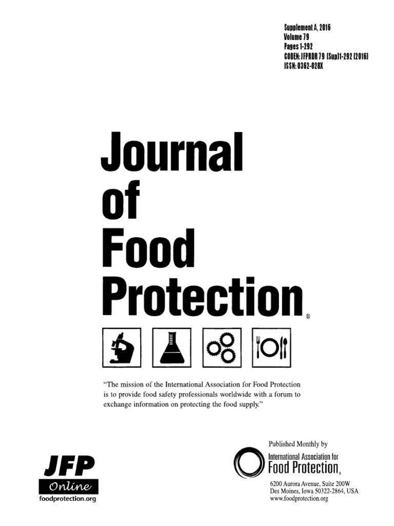 Journal Food Protection 2016 | Antimicrobial Resistance