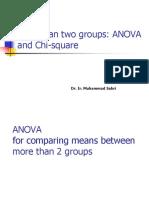 3 ANOVA and Chi Square