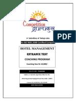 Best Hotel Management(HM) Coaching in Janakpuri Delhi NCR