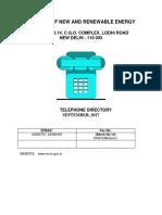 Telephone Directory Mnre