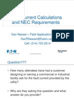 Delvi Fault Current Calculations and Nec Requirements