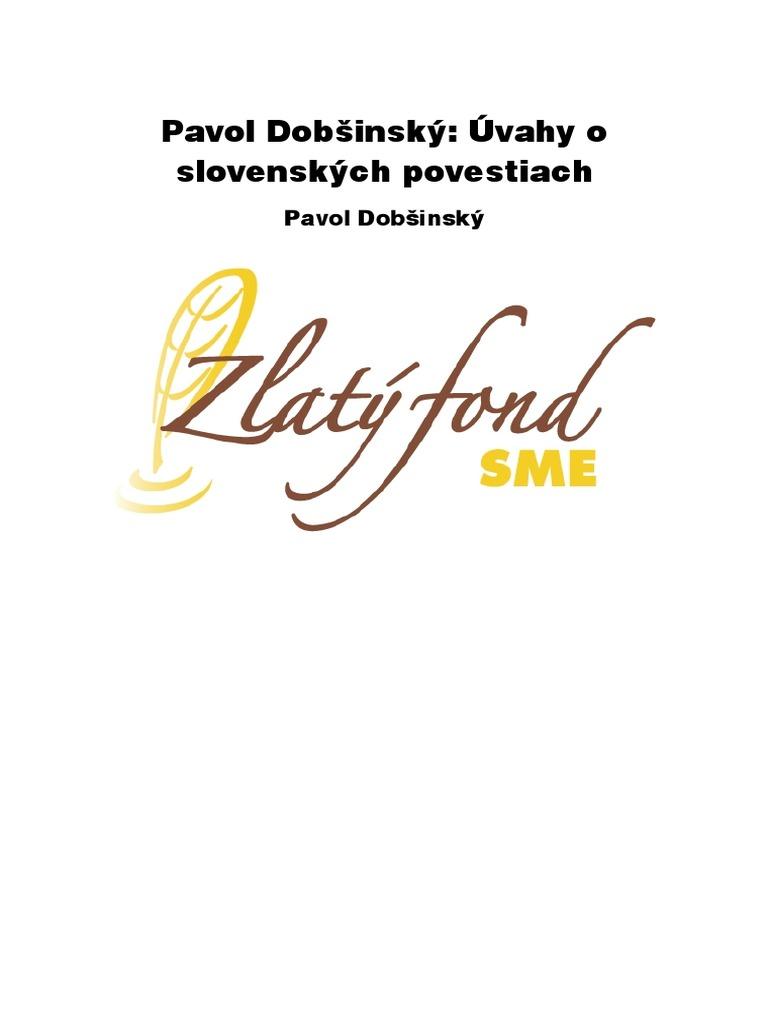 332b0358d6a6 Dobsinsky Pavol Uvahy o Slovenskych Povestiach