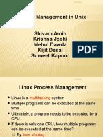 Presentation on Prcosess Managemnt in Unix