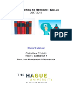 Intro to Research Student Manual 2017-2018