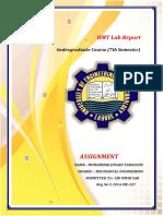 Hmt Lab Report