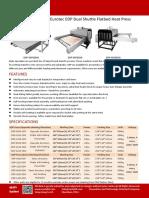 Flat Heat Press Dual Shuttle Easty Ltd Eurotec EDP
