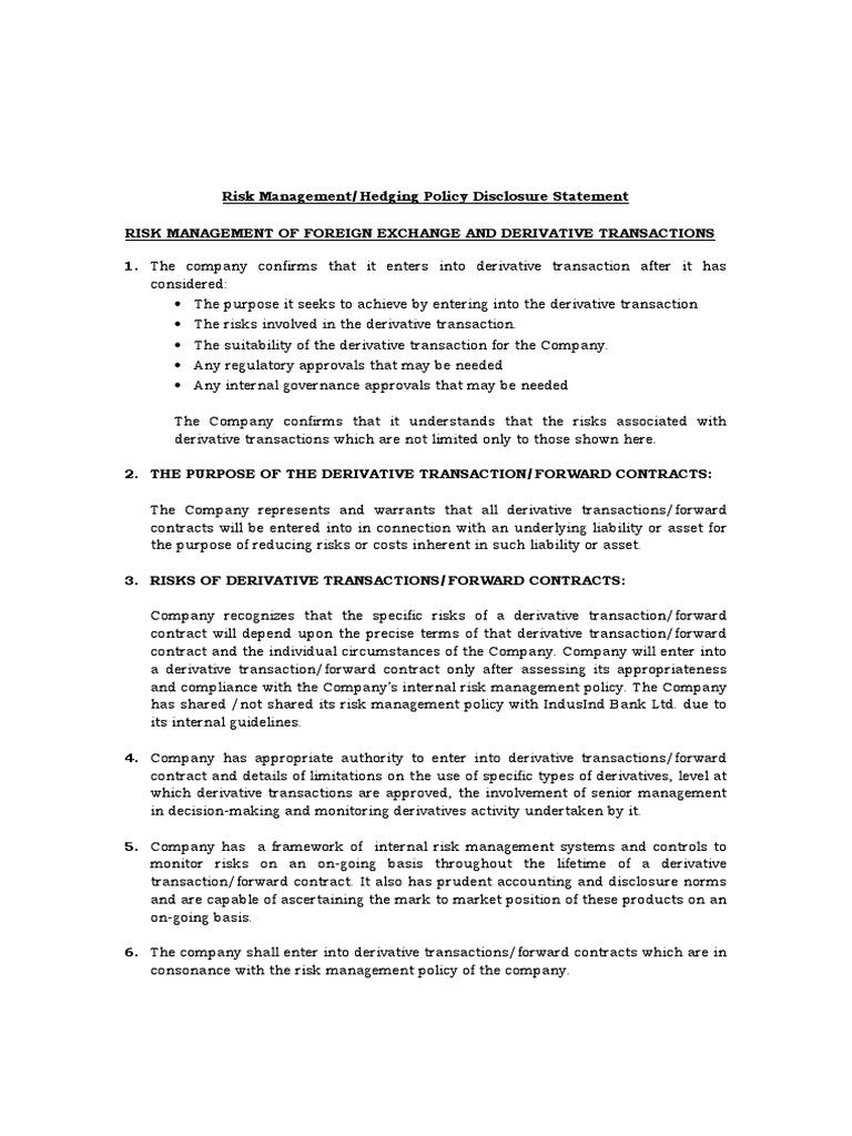 Risk Disclosure - OTXforex