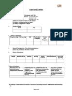 Odisha CT Audit Checklist VAT