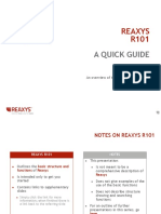 Reaxys r101 Functions