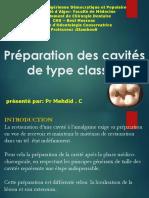 Med Dent2an16 Odonto Preparations Cavites Classe1