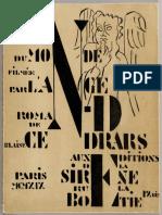 Cendrars, La Fin du monde, 1919